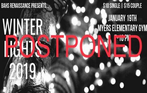 The Winter Lights dance has been postponed.