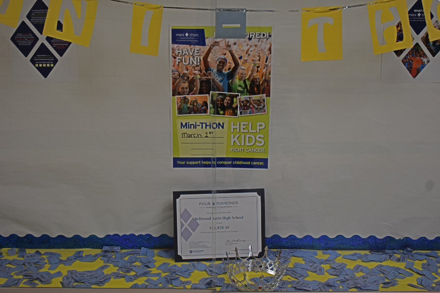 The mini-THON committee kicked off its main fundraising drive with an assembly this week.
