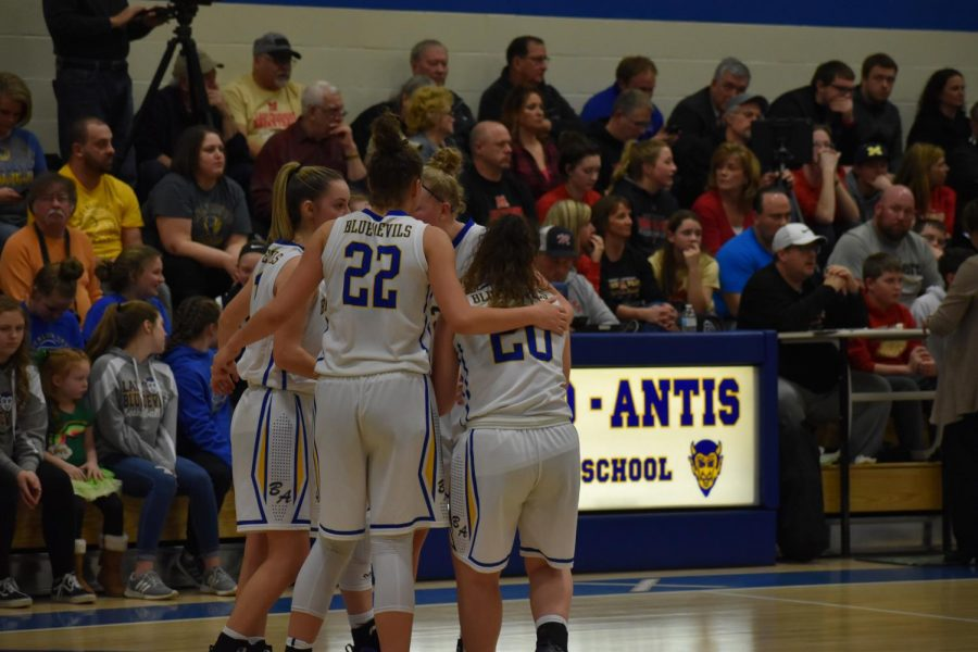 The Lady Blue Devils are on to the second round of playoffs.