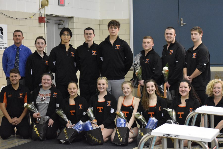 The seniors on the Tyrone-BA-BG swim team. (Kaelynn Behrens)