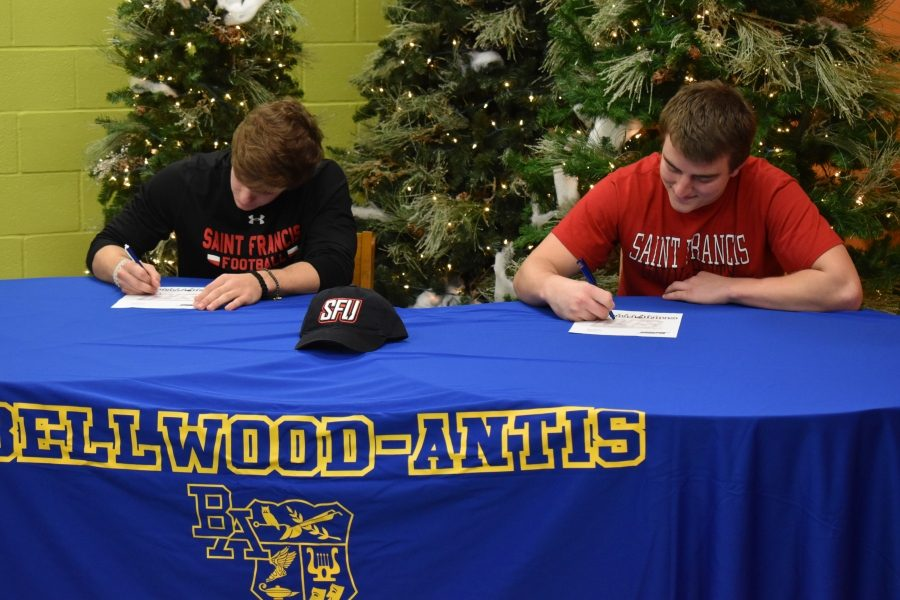 Tanner+Wyland+and+Alex+Schmoke+sign+with+SFU.+%28Kaelynn+Behrens%29