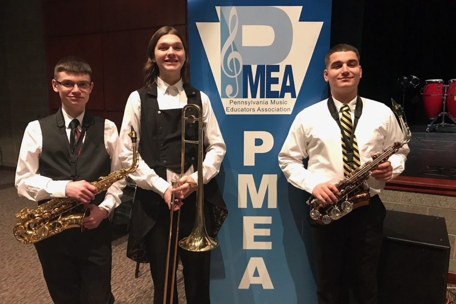 Alex Foose, Ellie Emigh, and Dominic Tornatore recently participated in District Jazz Band.