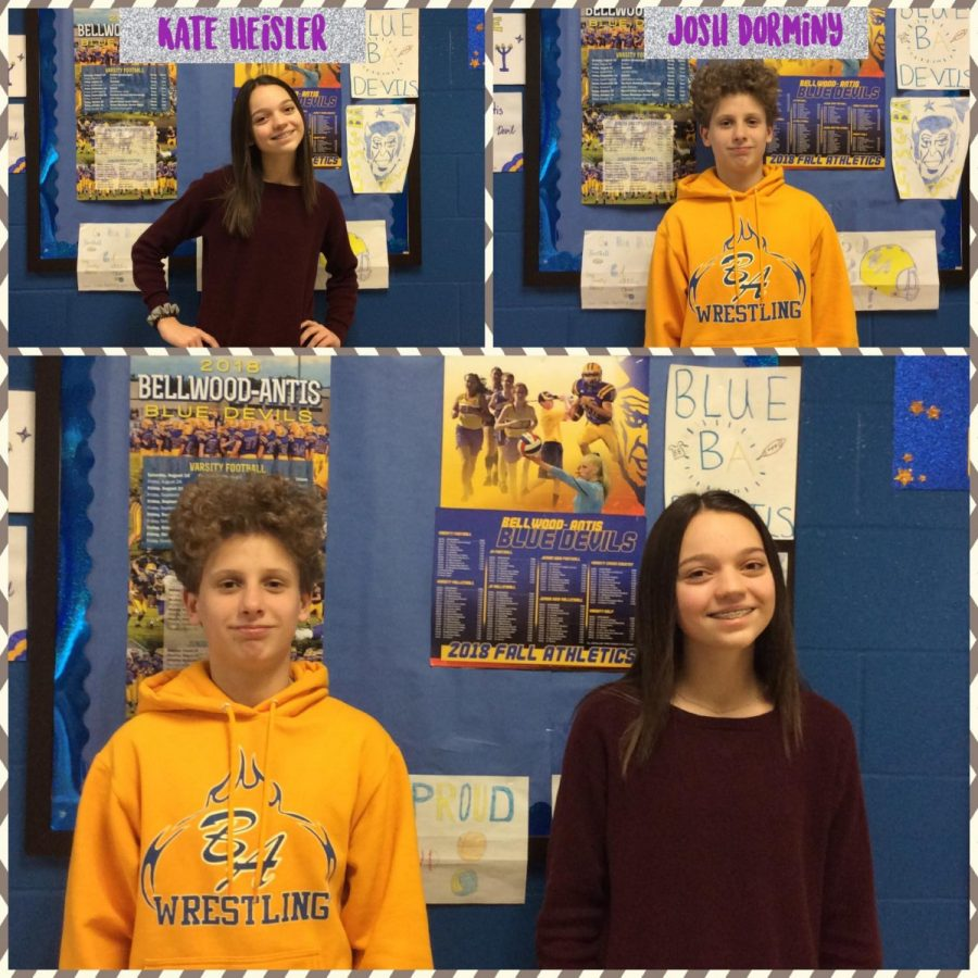 Seventh graders Kate Heisler and Josh Dorminy share their thoughts about school.