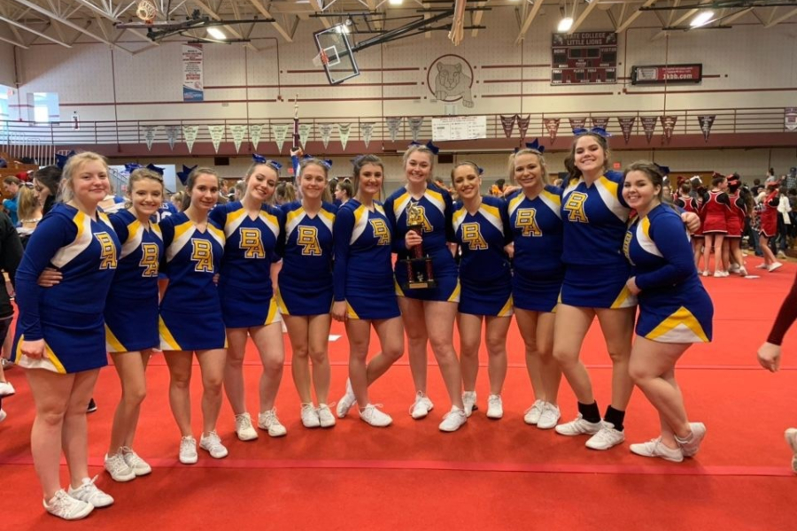 The B-A cheerleading squad wrapped up its first season of competition in a decade with a strong finish in State College.
