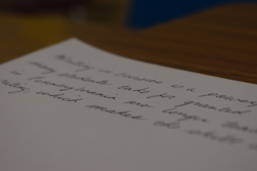 Cursive writing is a skill slowly dying out in elementary schools.