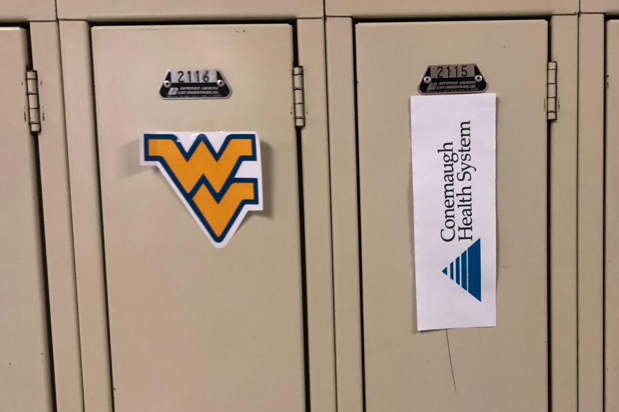 Renaissance Club is celebrating student college choices with logos on lockers.