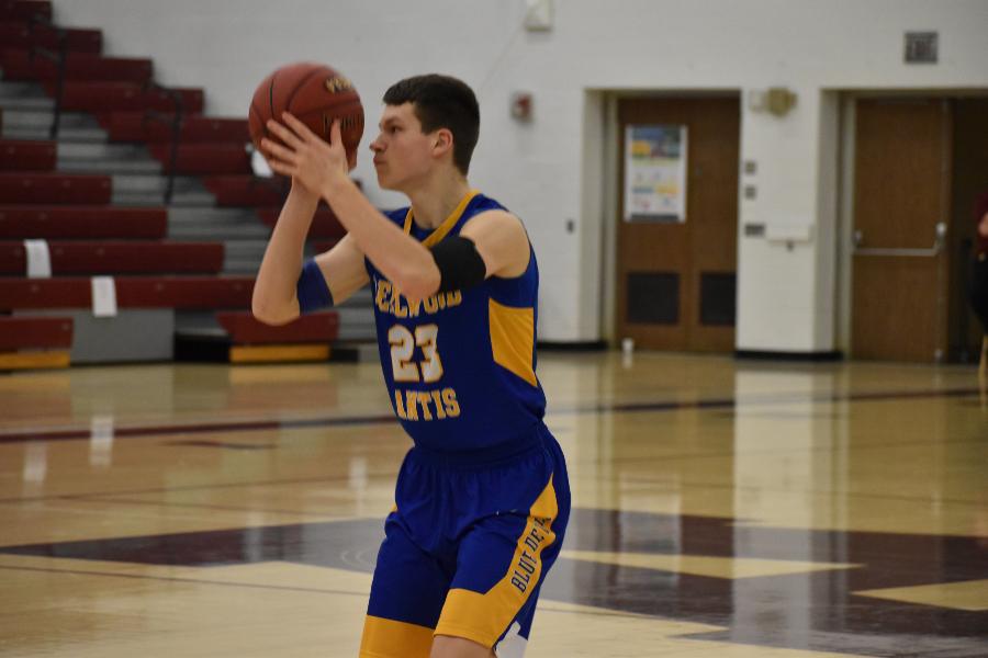 Zach Mallon eyes up a shot against Forest Hills.