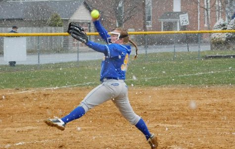 Haley Schmidt took the loss for B-A against Williamsburg.