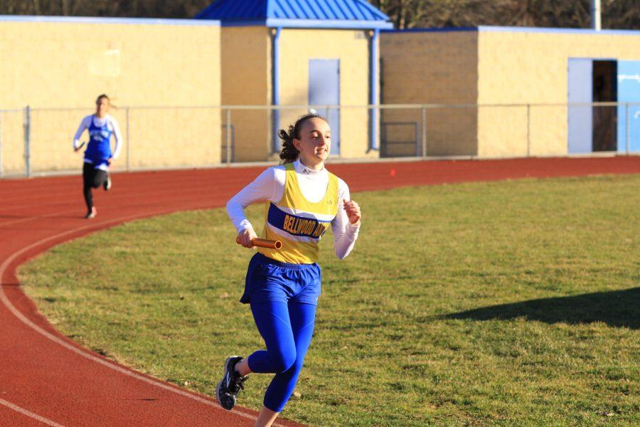 Lauren Heisler won the open 800 and ran a leg of the winning 3200 relay team yesterday in Hollidaysburg.