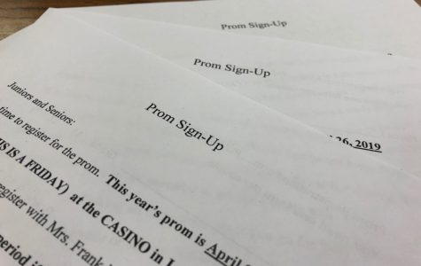 Prom sign-ups going on now