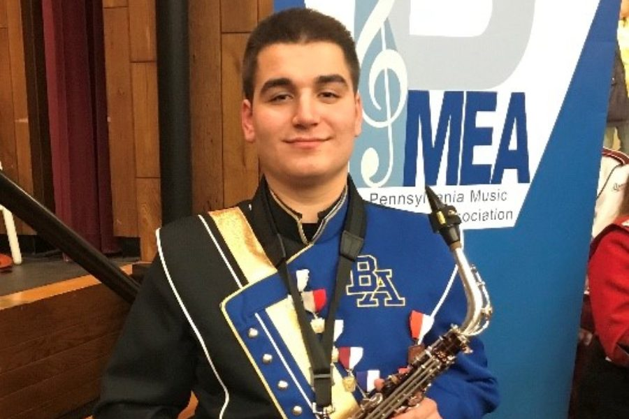 Senior Dominic Tornatore is headed to All-State Band in Pittsburgh.