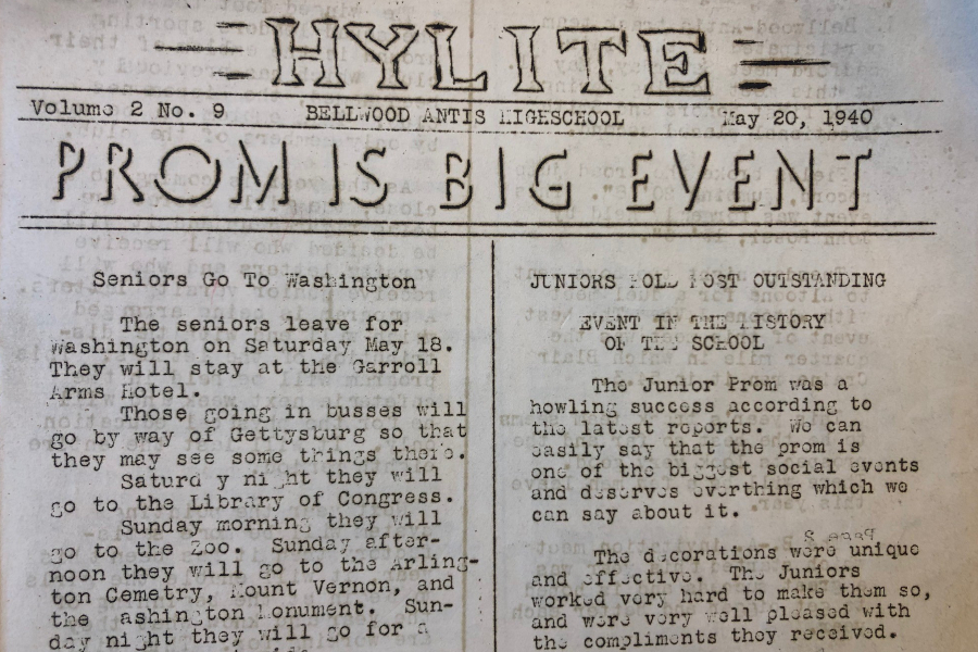 Gossip was a focus of the Hylite in 1940.