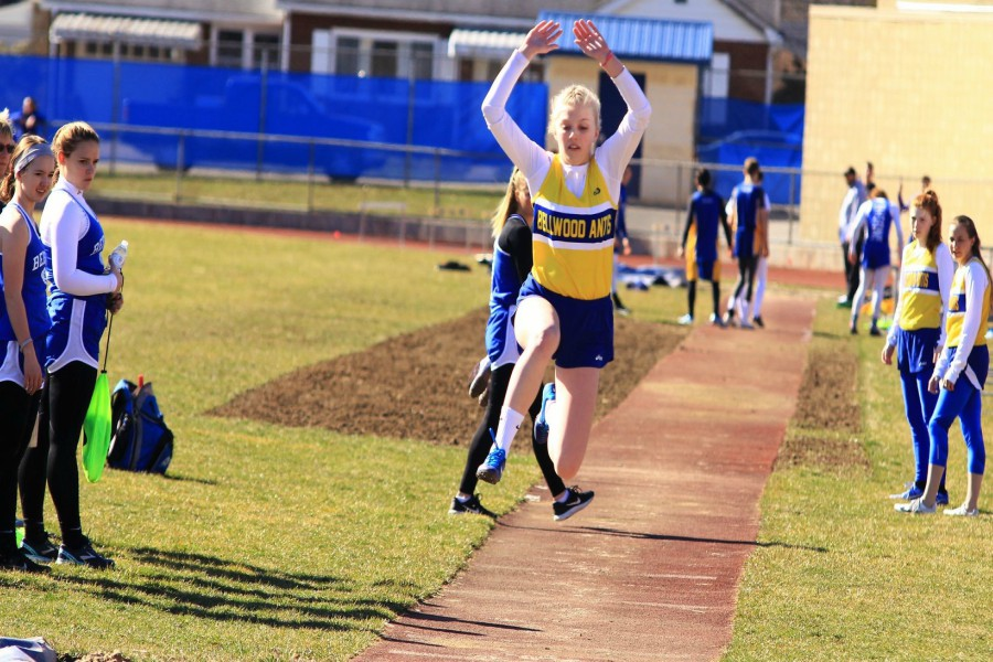 Kaelynn Behrens took first in long and high jump on Tuesday.