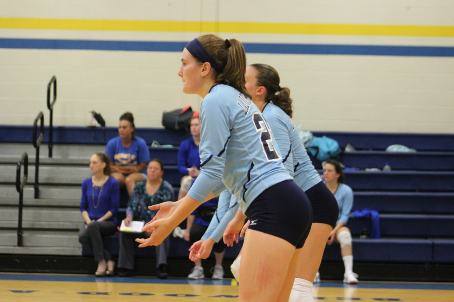 Hope Shook led the volleyball team in digs her senior season.