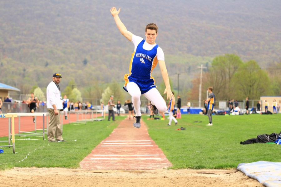 Zach Mallon won three jumping events to help lead B-A over Tyrone in the Backyard Brawl track meet.