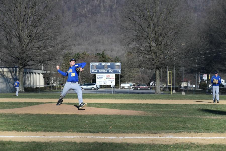 B-A baseball vs. Moshanno Valley; April 1, 2019.