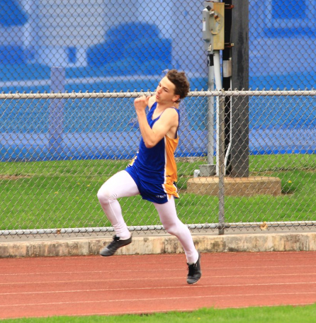 Owen Shaulis was a part of two winning relay teams for the Blue Devils at the B-A Invitational.