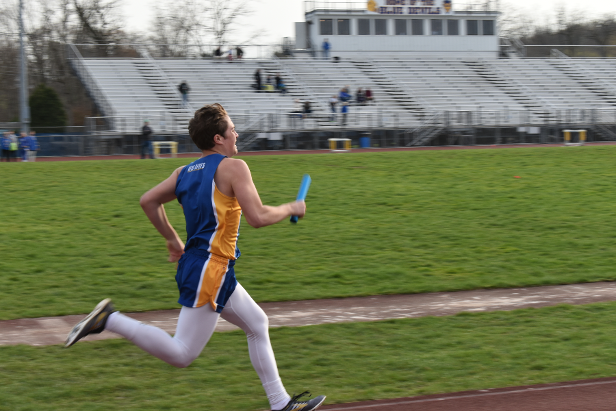 Preston Wilson has been a solid contributor to the track team in his sophomore season.