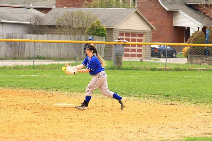 Abbey Snyder is in her first year on the varsity softball team.
