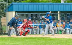 Dallas Hollen was one of only three Blue Devils to get hits against Bishop Guilfoyle.