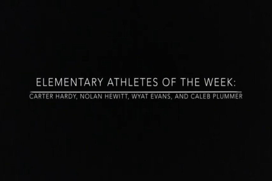 We have four new athletes of the week!