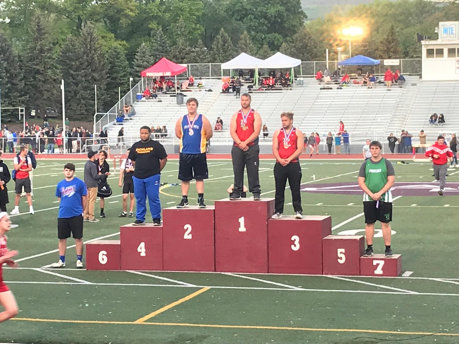 Joe Wertz took second in the shot put at the District 6 2A championships and will compete in states next week.