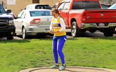 Kara Engle was a senior leader among field participants on the girls track and field team.