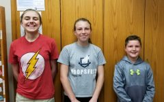 Middle school Students of the Week this week are (l to r) Lucy Wilson, Lainey Quick, and Colin Gibbons.