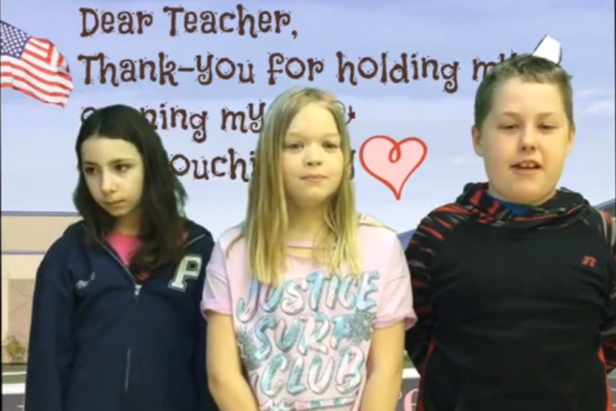 Students at Myers showed their teachers how much they appreciated them last week.