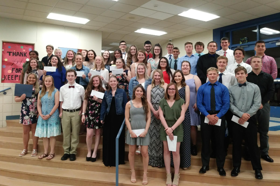 Local benefactors handed out more than $66,000 in scholarships to B-A seniors this week.