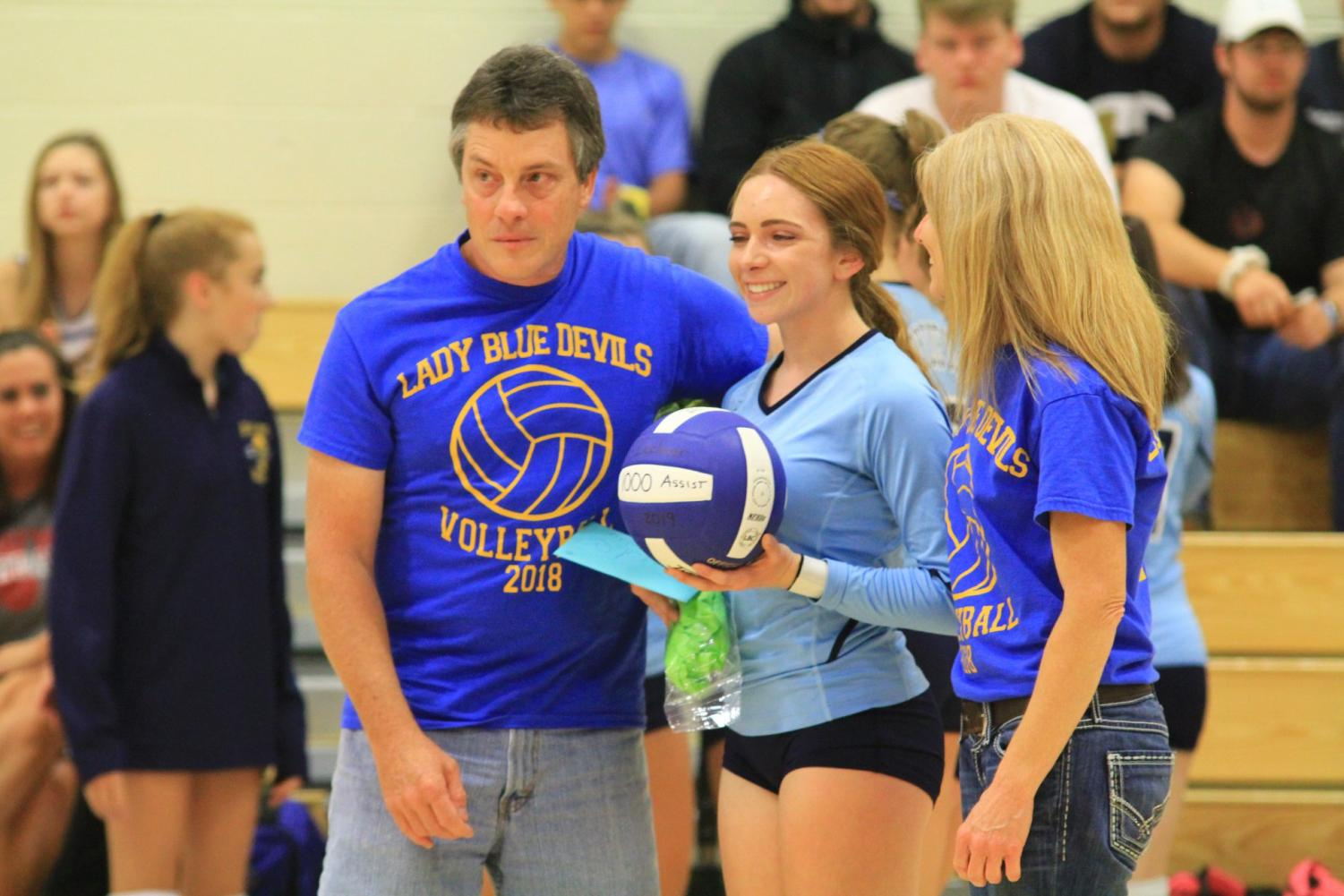 Sydney Lechner reached a career milestone against Glendale with 1,000th career assist.