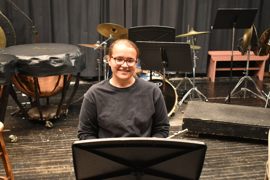 RDrum major Cynthia Baldwin is the first Artist of the Week for 2019-2020.