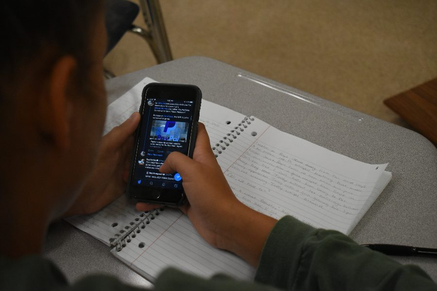 Students can no longer use cell phones in classrooms at Bellwood-Antis.