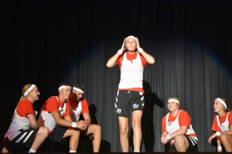 Homecoming court enjoys skit night