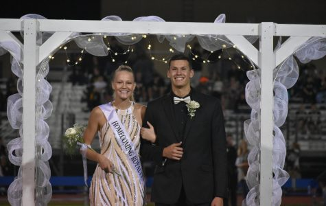 Alli Campbell, escorted by Travis Luensmannn, was named 2019 Homecoming queen on Friday.