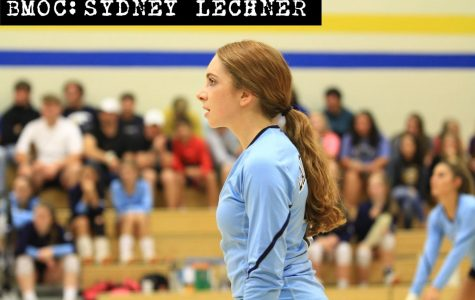Senior Sydney Lechner has the school assist record in her sights as a setter on the volleyball team.