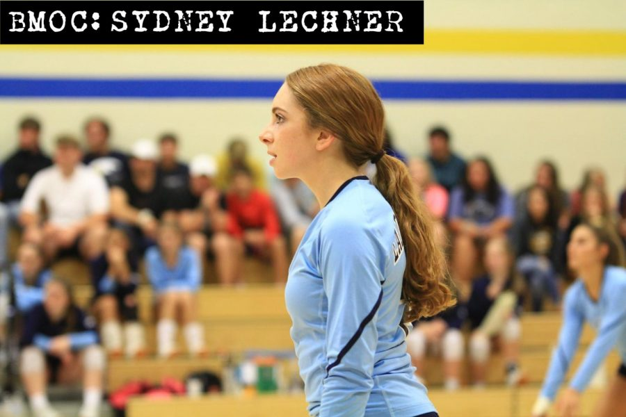 Senior+Sydney+Lechner+has+the+school+assist+record+in+her+sights+as+a+setter+on+the+volleyball+team.