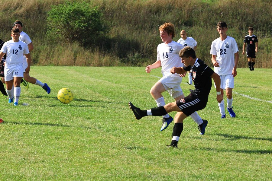 Corey Johnston picked up where he left off in 2018, scoring a goal in Tyrones win over Philipsburg-Osceola to start the season yesterday.
