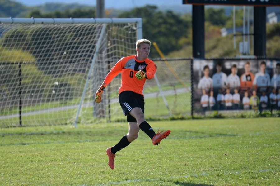 Alex Roberts and the soccer team are looking for a District title tonight against Hollidaysburg.
