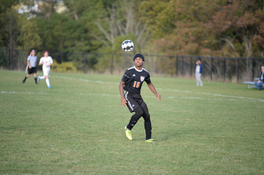 Alex Taylor and the soccer team limited Central to two goals but the Eagles could muster only one goal.