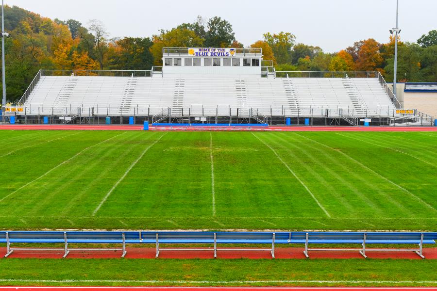Memorial Stadium underwent a major renovation in 1996.