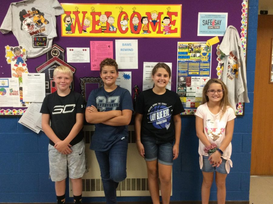 These 5th graders are enjoying their time in the middle school.