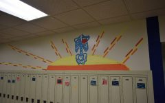 Art students brighten the halls with tape art displays