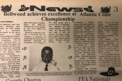 The Bellwood-Antis band had a dominant season on the competition circuit 19 years ago.