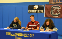 Alli Campbell, Travis Luensmann, and Sakeria Haralson signed National Letters of Intent yesterday to play Division I sports.