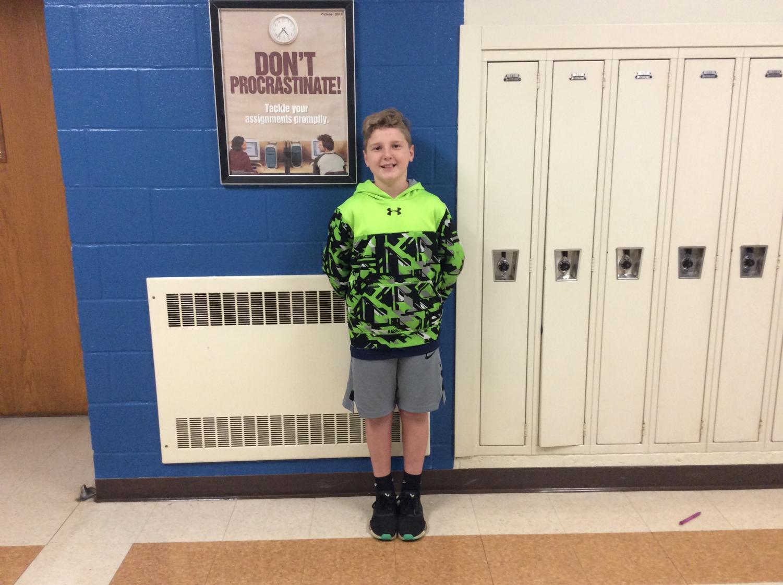 Sixth grader Colin Gibbons plays three sports.