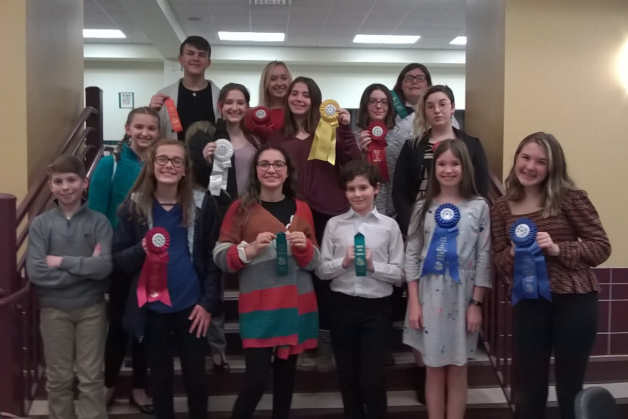 The junior high speech team completed its season with a meet in Indiana, PA.