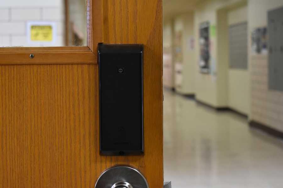 Classroom door locks will soon be activated to open with fobs.