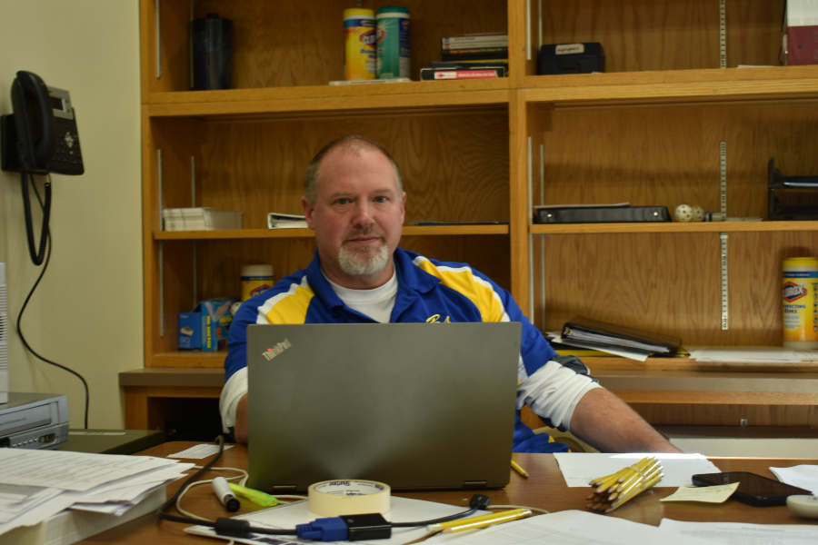 Mr. Burch has one year and five sports seasons under his belt as the B-A athletic director.