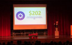 Trisha Comstock of the Blue diamonds Organization cisted Belllwood-Antis on Wednesday to help kick of mini-THON.
